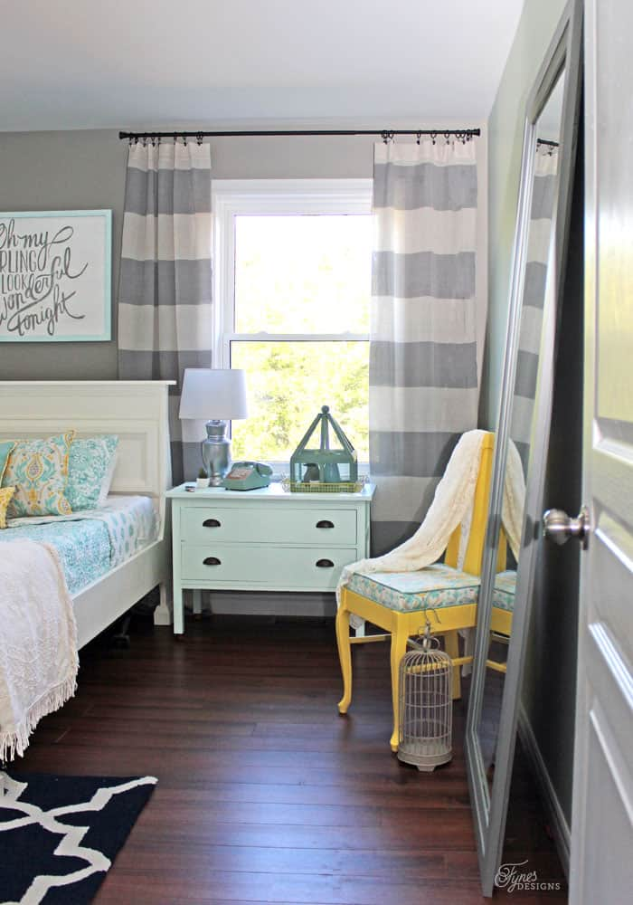 Give an outdated bedroom a fresh makeover
