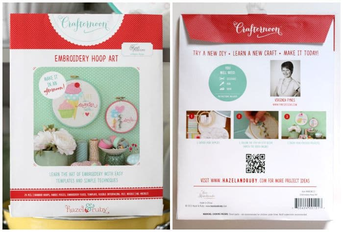 Embroidery kit packaging