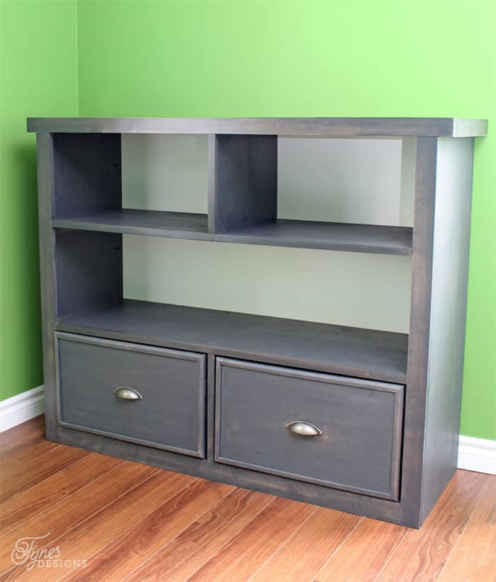 DIY boys bedroom bookcase