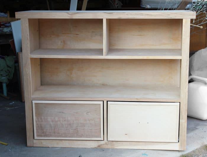 Unfinshed bookcase