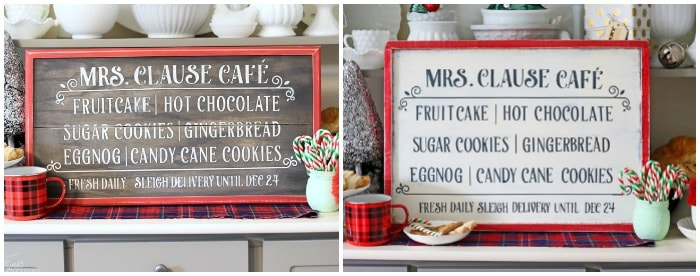FREE silhouette cut file for this sweet Christmas Cafe sign