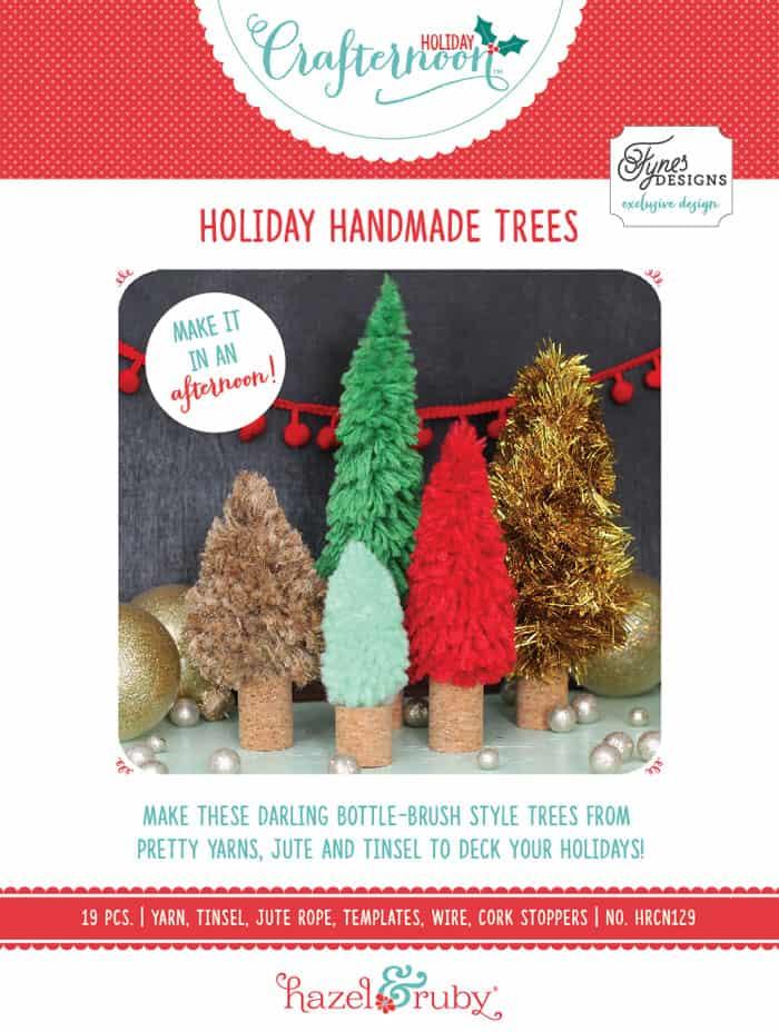 DIY bottle brush tree tutorial, featured by top US craft blog, Fynes Designs: Holiday Handmade trees DIY kit to make your own bottle brush trees