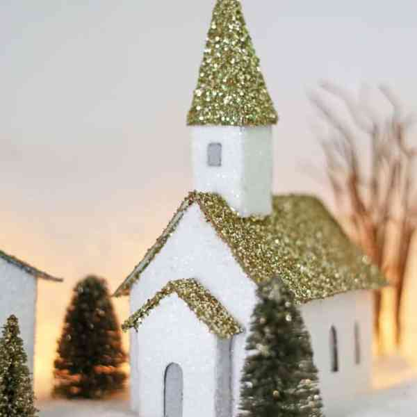 Putz inspired Christmas Village houses- Free Silhouette Cut files