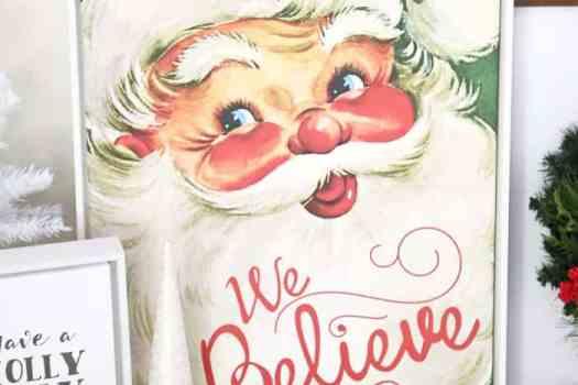 We Believe vintage santa canvas- custom print from Shutterfly