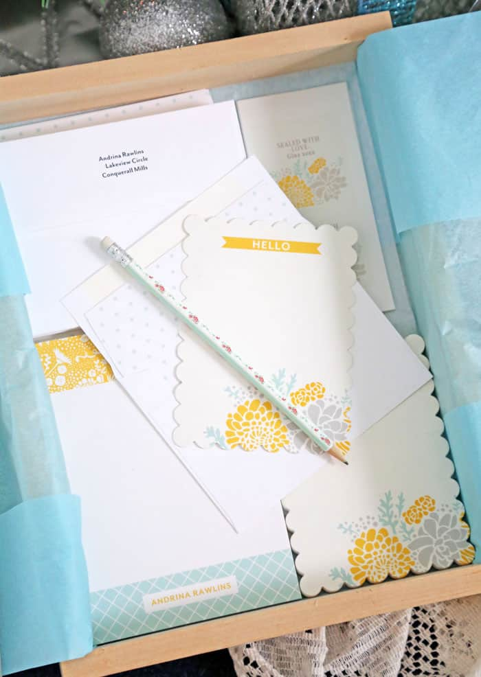 Personalized stationary gift sets make a lovely holiday gift
