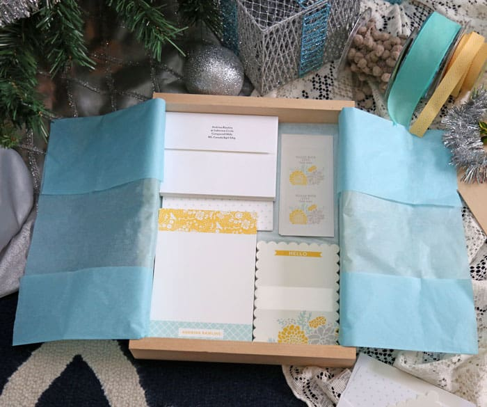 Personalized stationary gift sets from Tiny Prints