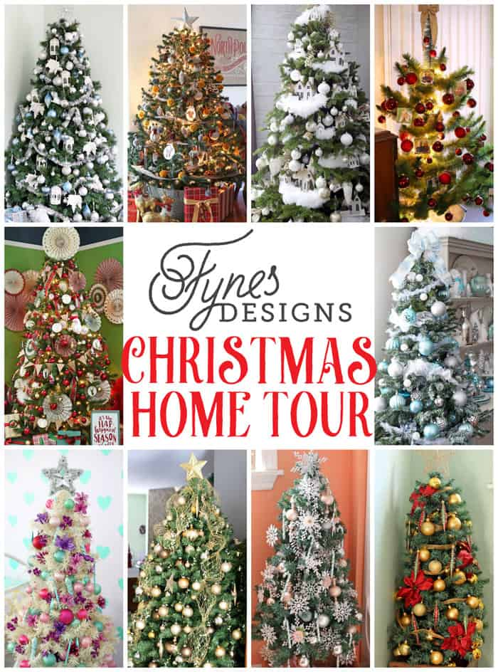 This Christmas Home Tour has 10 Trees! A must see!