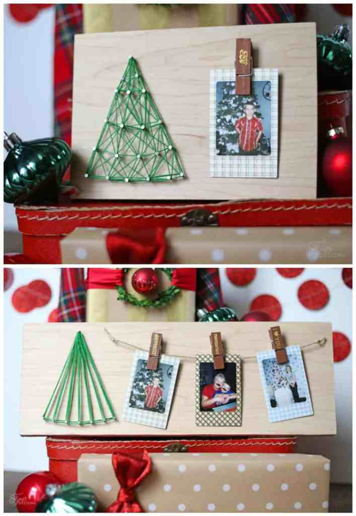 Kids Christmas photo craft idea