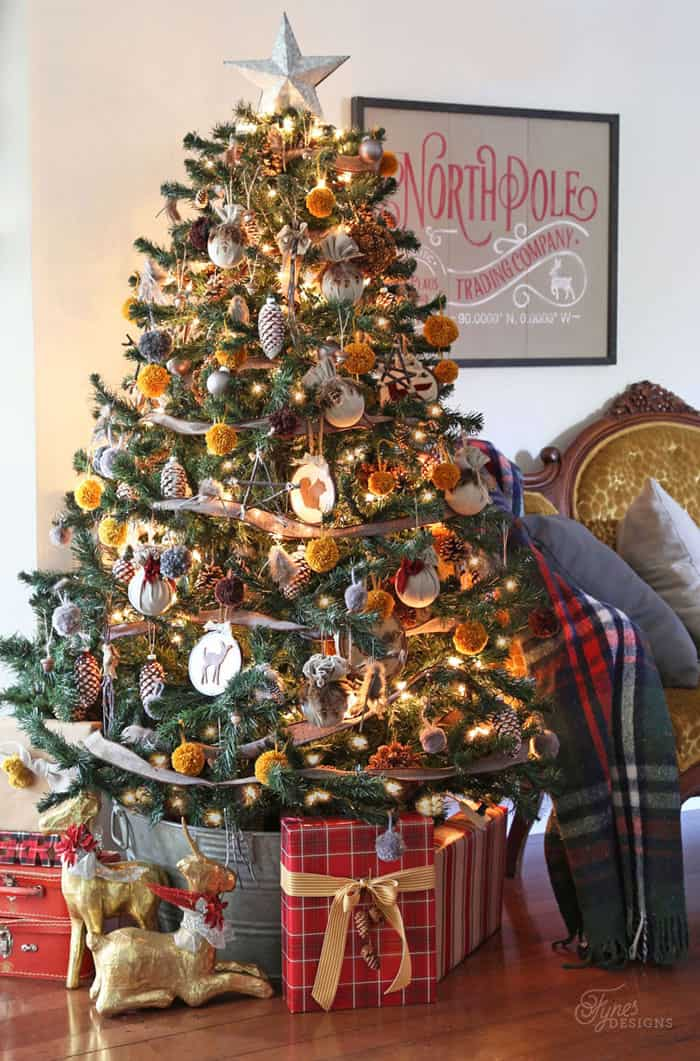 Rustic insipred tree | Christmas Home Tour- Part 1 | Fynes Designs