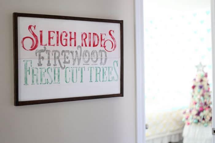 sleigh rides sign