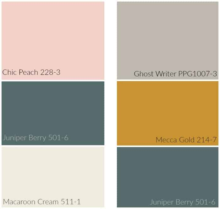 Bathroom paint color combinations from PPG Voice of Color