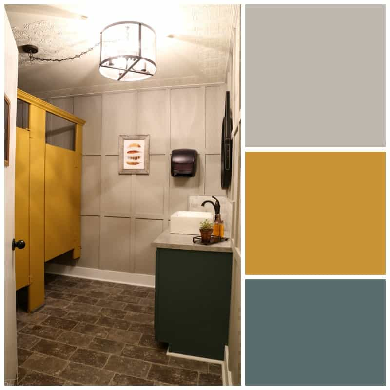 Restaurant mens room color scheme with PPG Voice of Color paint