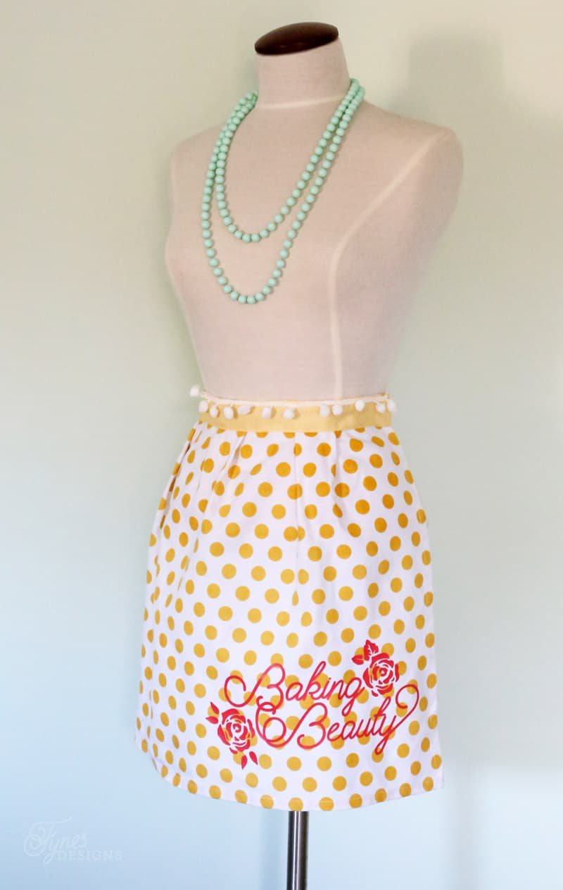 Mother's Day Gift idea- personalized Aprons + Free Silhouette Cut File