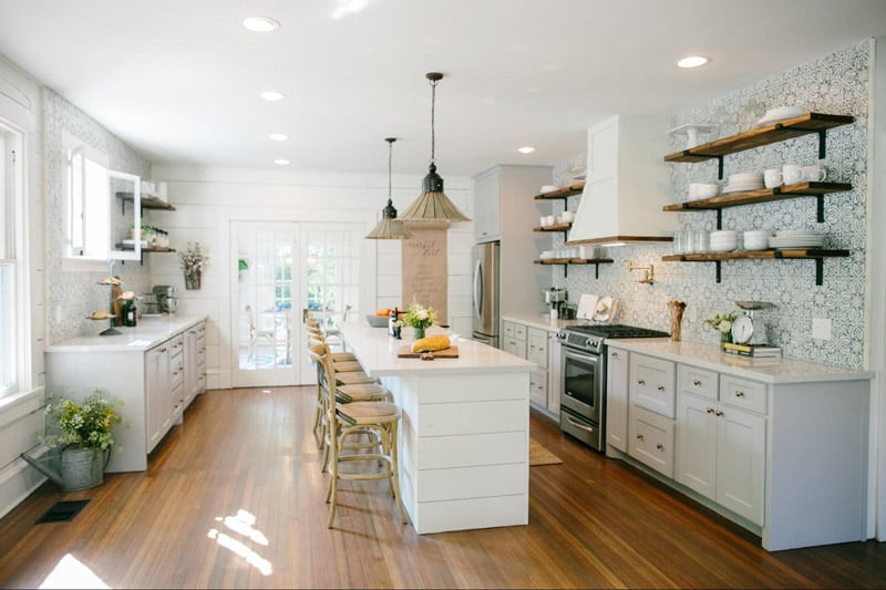 Fixer upper kitchen. Farm House inspired colors