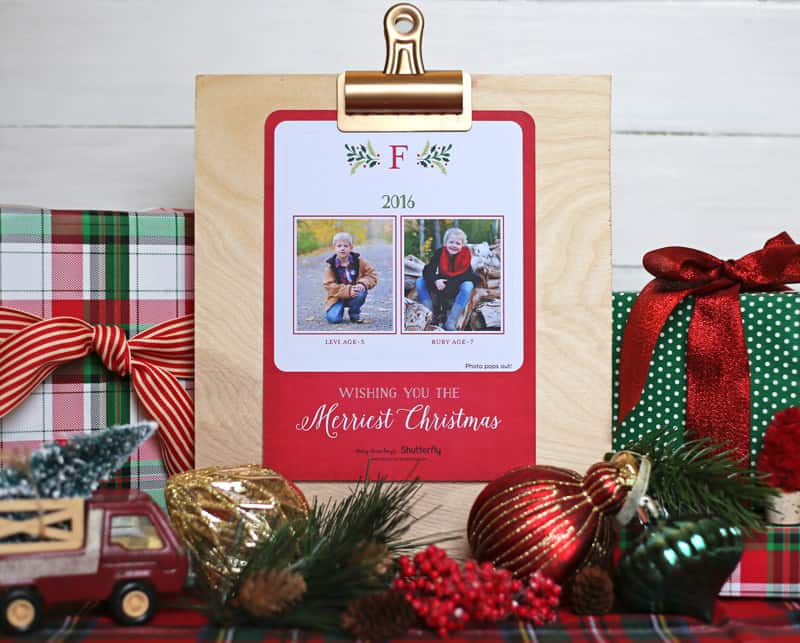Pop out Christmas cards from Shutterfly