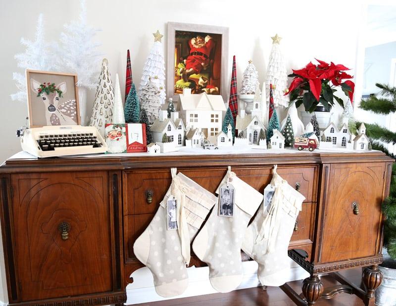 Christmas village vignette