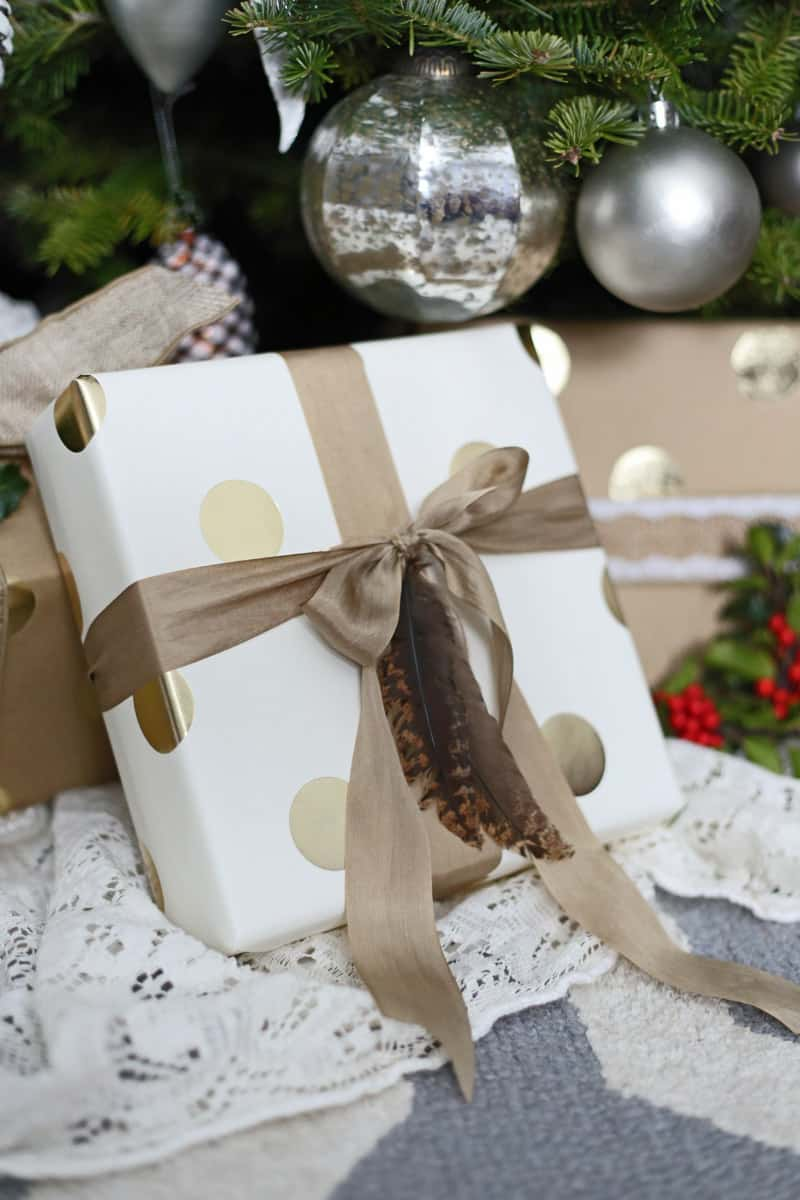 Natural feathers for Gift wrapping embellishments
