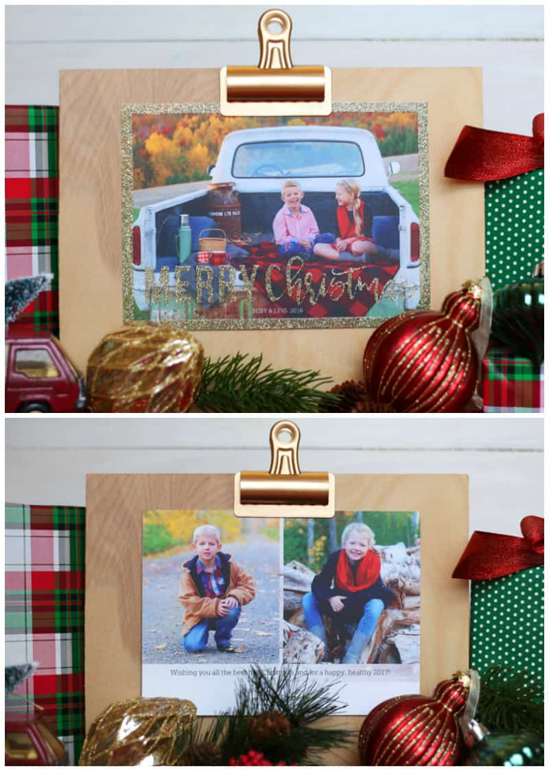 NO MESS GLITTER Christmas cards from Shutterfly