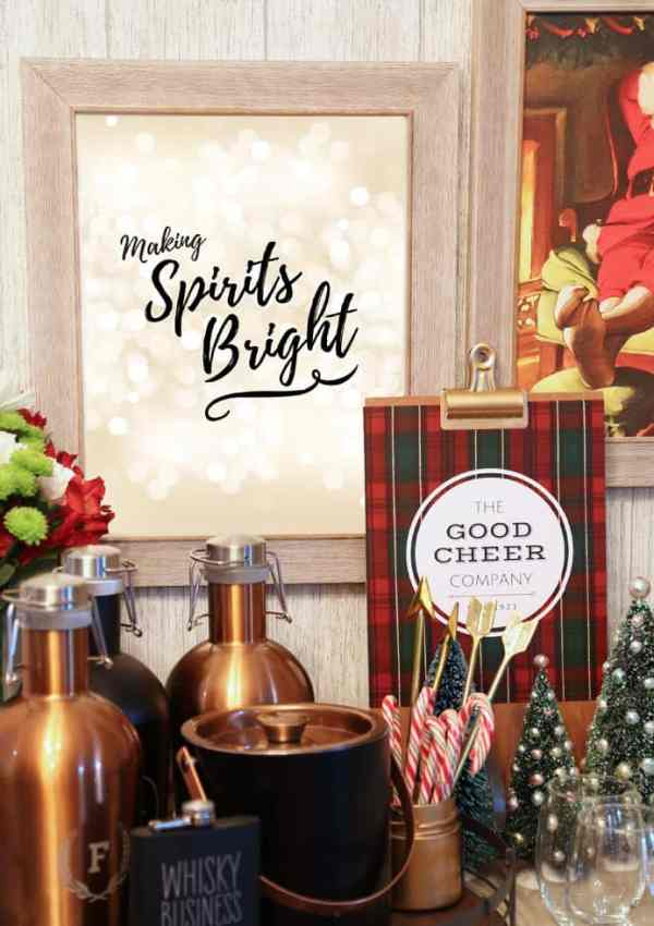 Holiday Bar Cart with Shutterfly