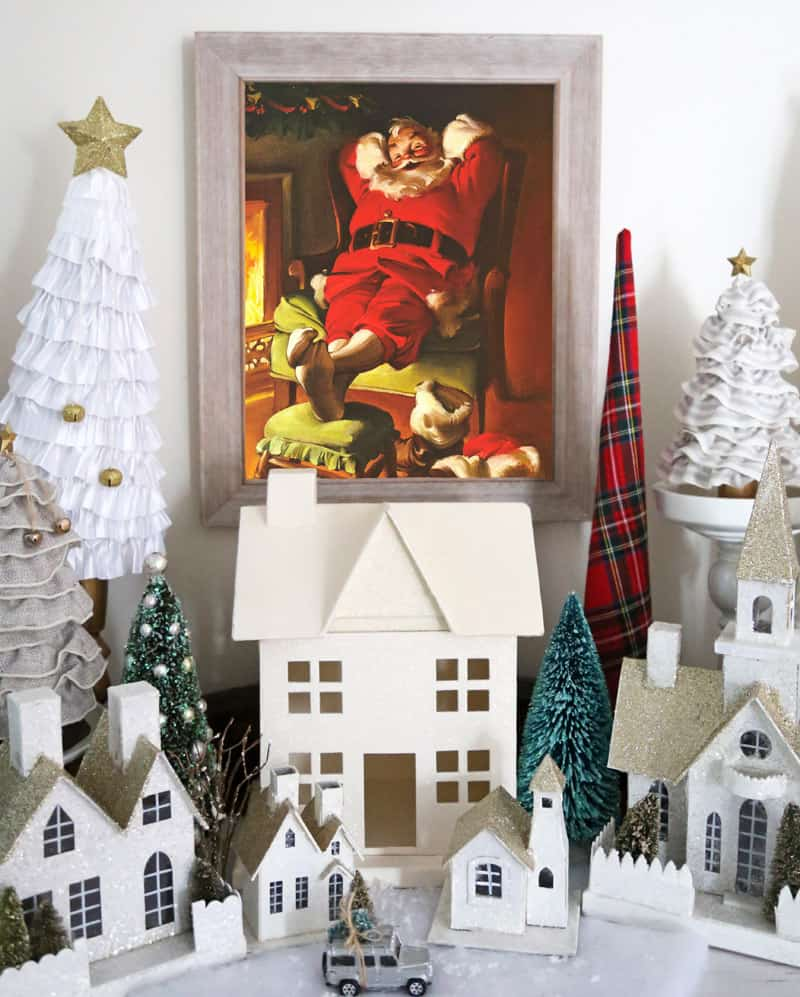 Norman Rockwell framed Santa. Best vintage santa ever