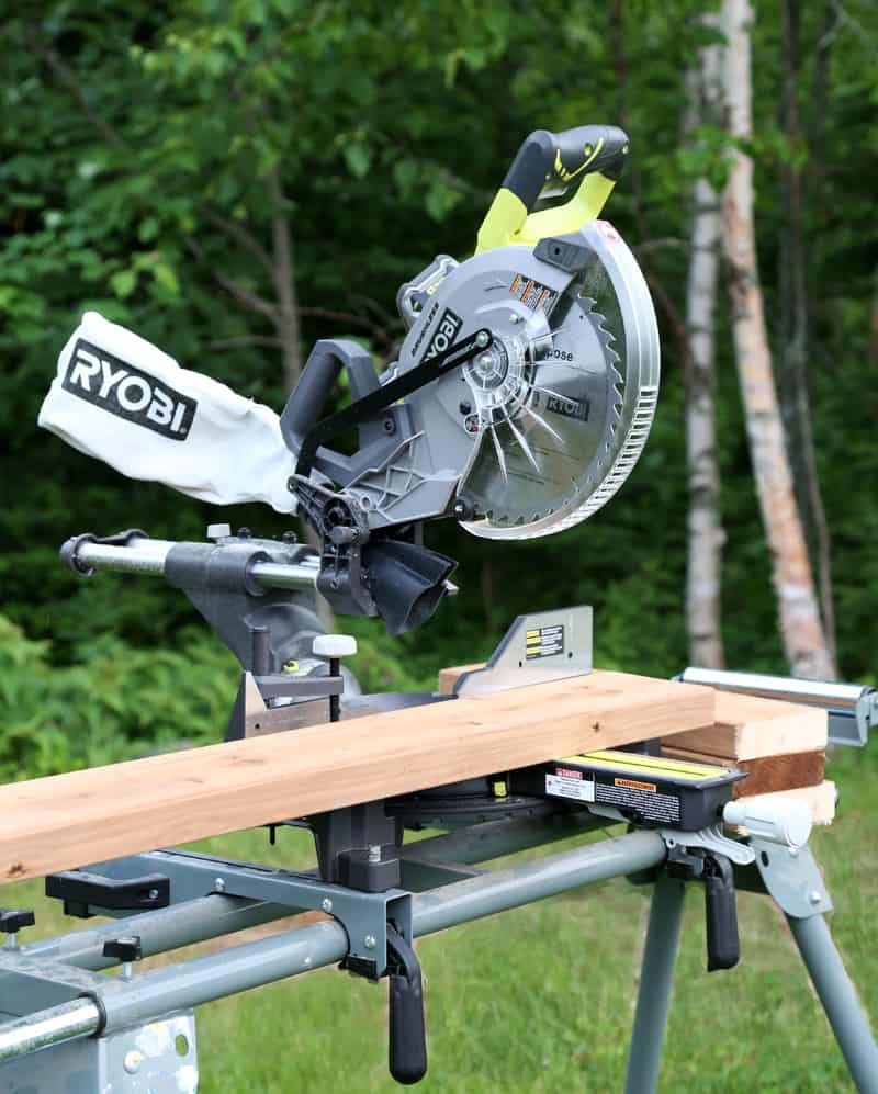 Ryobi North- Easy DIY Bench tutorial. Perfect bench for the Lake