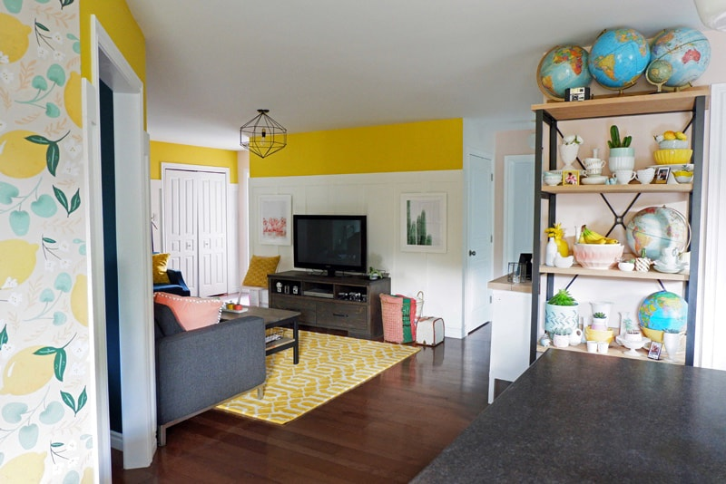 Bright and colorful open concept home