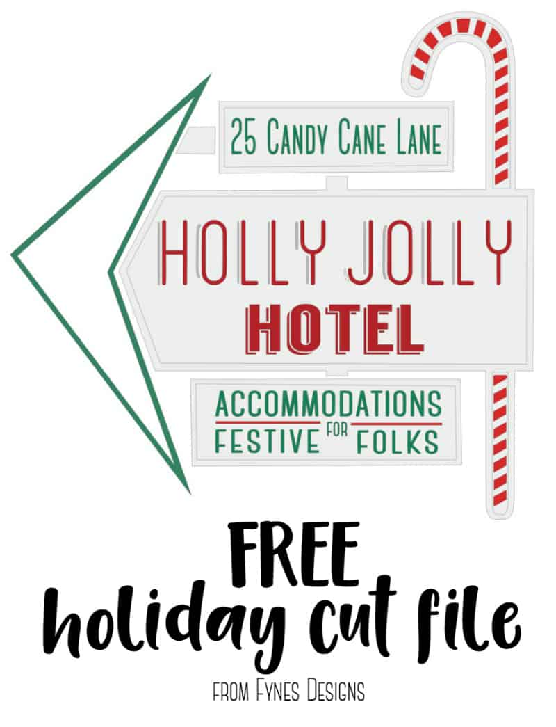 FREE holiday cut file works with Silhouette and Cricut