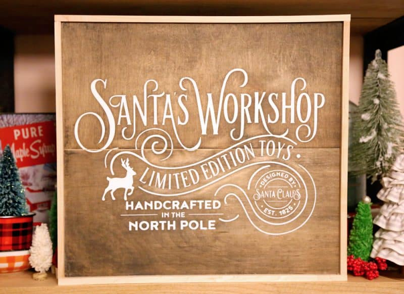 Santas Workshop Christmas painted signs SVG, Silhouette, and Cricut Cut files