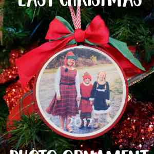 Easy DIY iron on Christmas photo ornaments