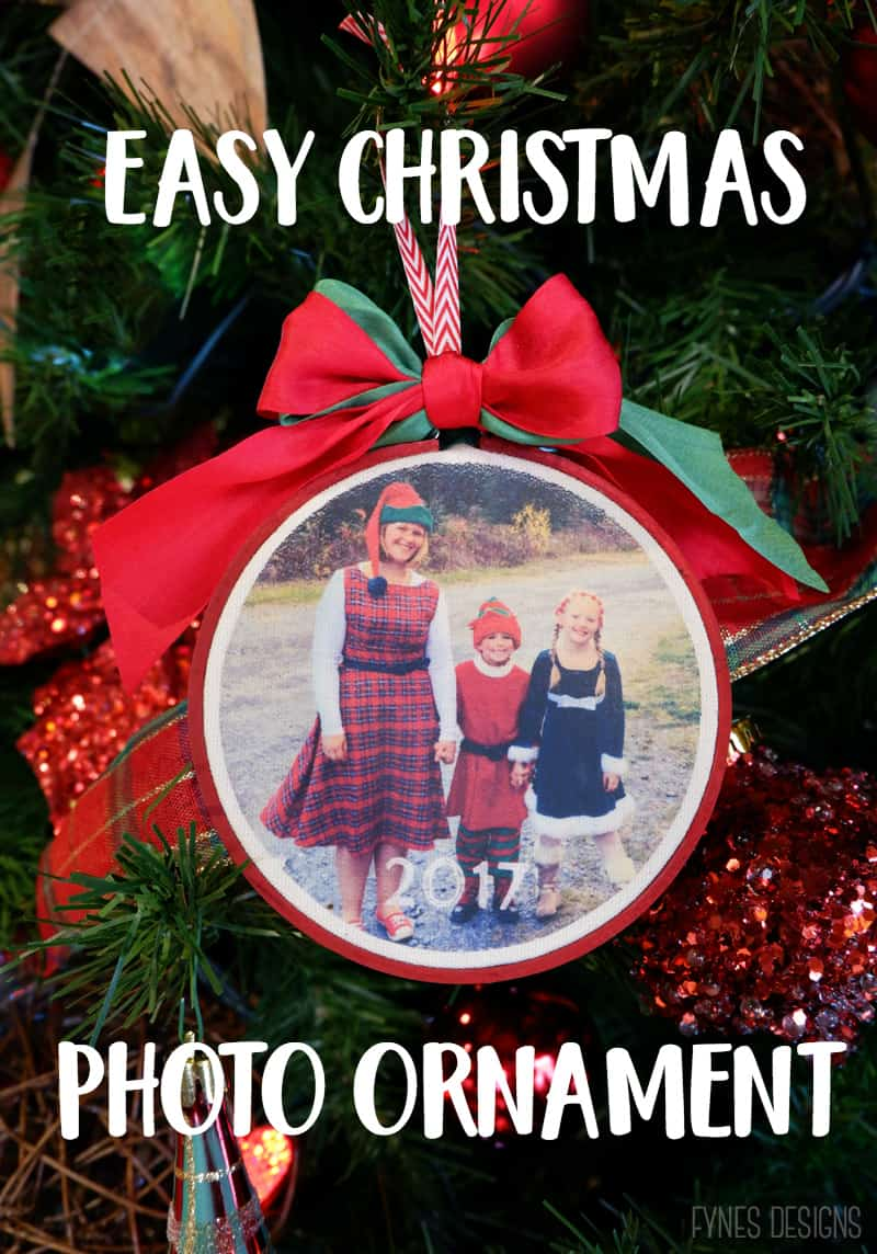 Easy DIY Iron On Christmas Photo Ornaments