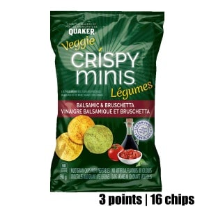 Low Point Weight Watchers snacks under 3 points featured by top US life and style blog, Fynes Designs: Veggie Crispy Minis