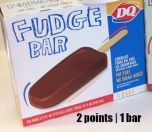 Low Point Weight Watchers snacks under 3 points featured by top US life and style blog, Fynes Designs: Dairy Queen Fudge Bar |Weight Watchers Snacks by popular Canada lifestyle blog, Fynes Designs: image of Dairy Queen fudge bars.