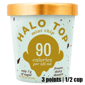 Low Point Weight Watchers snacks under 3 points featured by top US life and style blog, Fynes Designs: Halo Top Frozen Treat