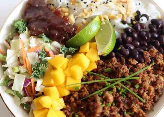 Mango Peanut Noodle Salad Bowl