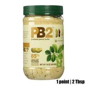 Low Point Weight Watchers snacks under 3 points featured by top US life and style blog, Fynes Designs: PB2 |Weight Watchers Snacks by popular Canada lifestyle blog, Fynes Designs: image of a jar of PB2 powdered peanut butter.