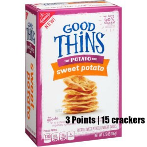 Low Point Weight Watchers snacks under 3 points featured by top US life and style blog, Fynes Designs: Nabisco New Thins sweet potato