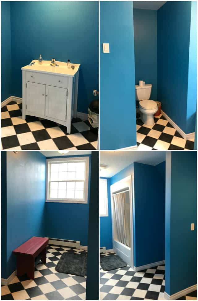 You have to see the transformation of this bathroom in only a weekend!