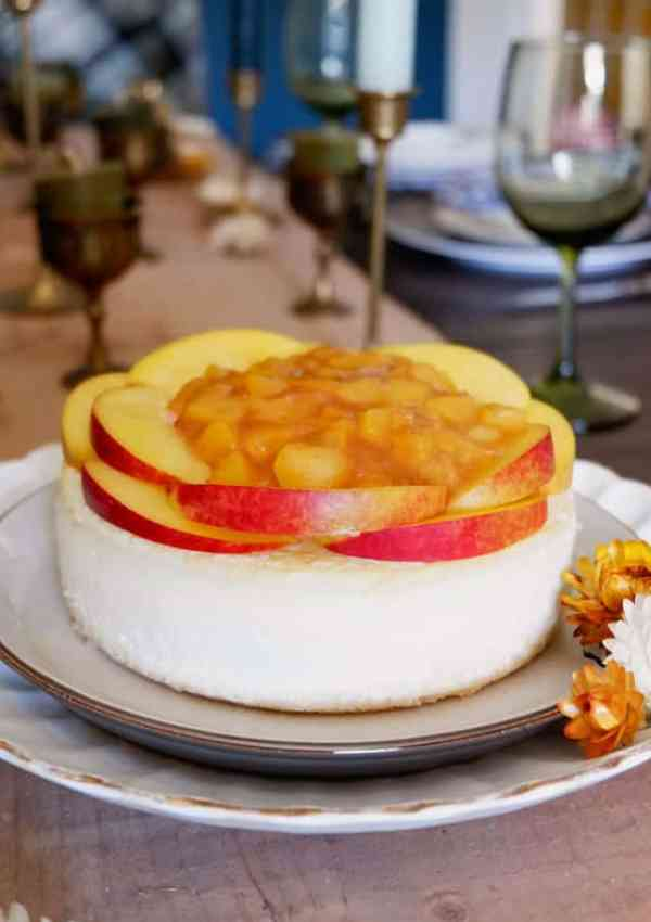 Rediscovering Traditions- Peach Mango Cheesecake