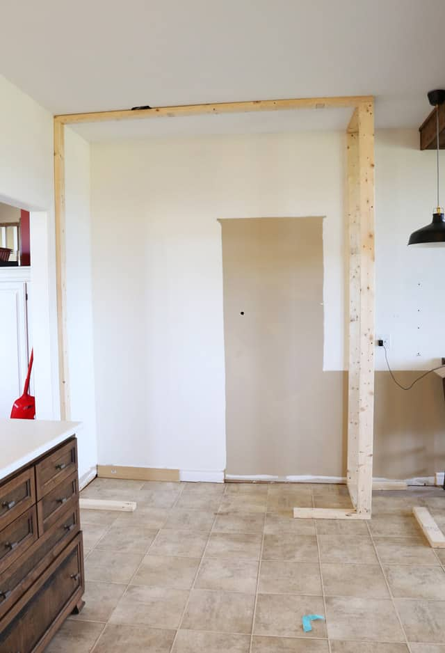 framing the pantry
