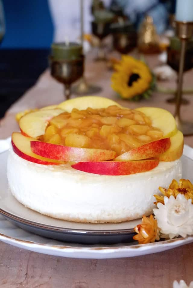 Peach Mango Cheesecake