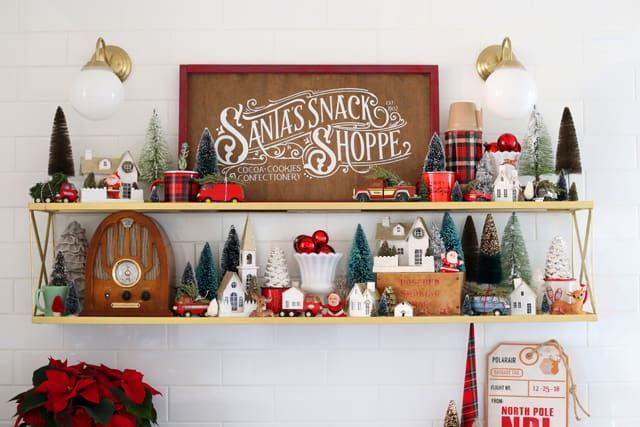 Santa's Snack Shoppe Painted sign for a Christmas kitchen