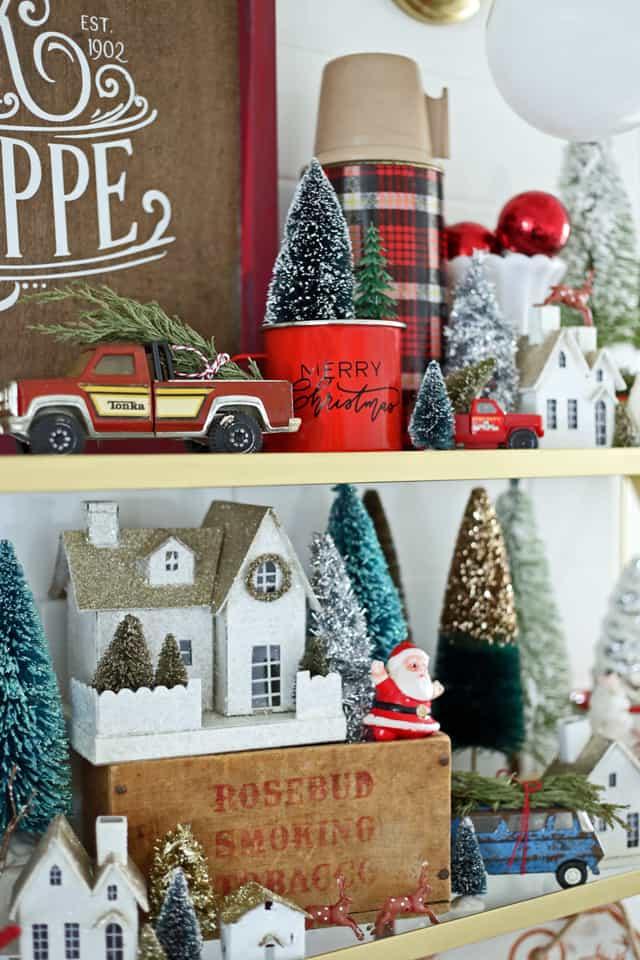 Vintage Christmas trucks