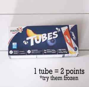 This image has an empty alt attribute; its file name is yogurt-tubes-ww-300x292.jpg |Weight Watchers Snacks by popular Canada lifestyle blog, Fynes Designs: image of Yoplait yogurt tubes.