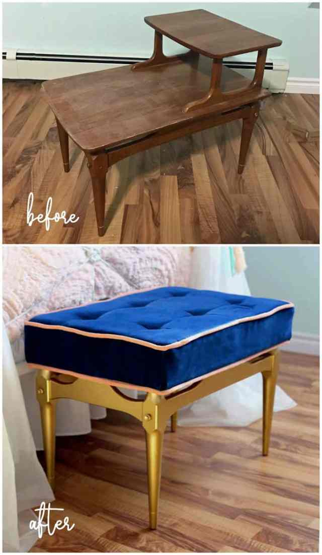 Top 10 Cheap Bedroom Decoration Ideas for Girls featured by top US DIY and interior design blog, Fynes Designs: Think outside the box when updating an old piece of furniture.