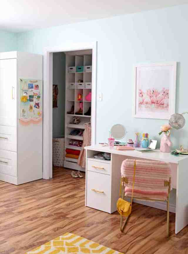 Girls walk in closet ideas