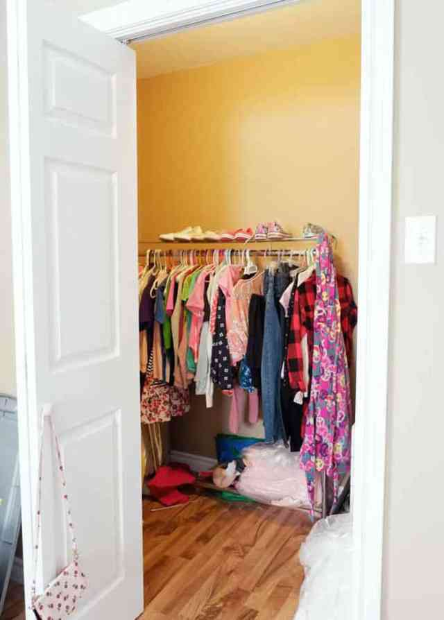 Closet organization ideas for a girls small walk in