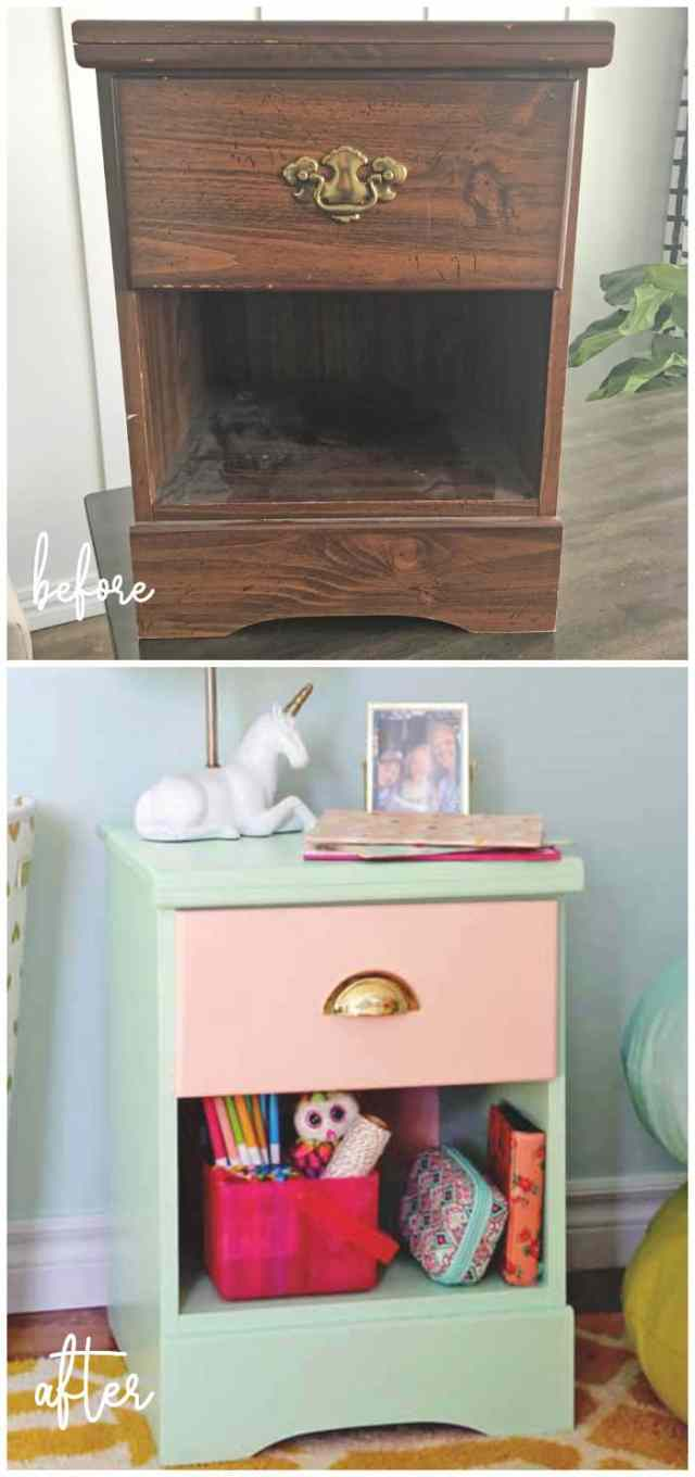 Top 10 Cheap Bedroom Decoration Ideas for Girls featured by top US DIY and interior design blog, Fynes Designs: update an outdated piece of furniture with paint and hardware