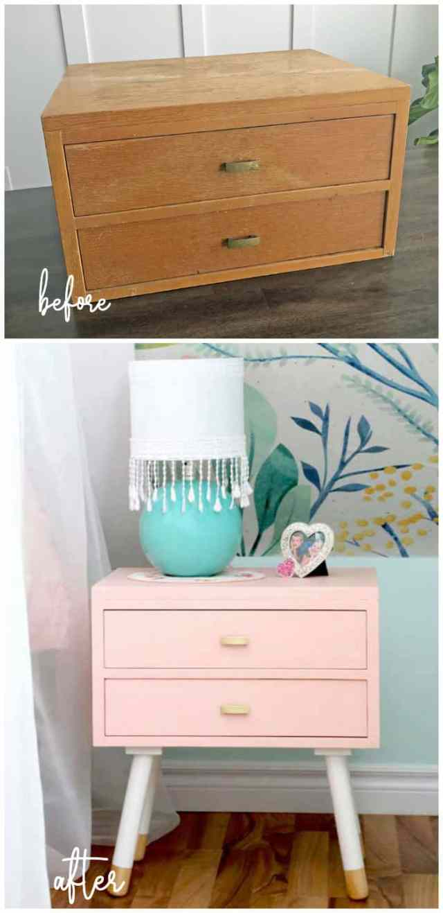 Top 10 Cheap Bedroom Decoration Ideas for Girls featured by top US DIY and interior design blog, Fynes Designs: upcycle furniture