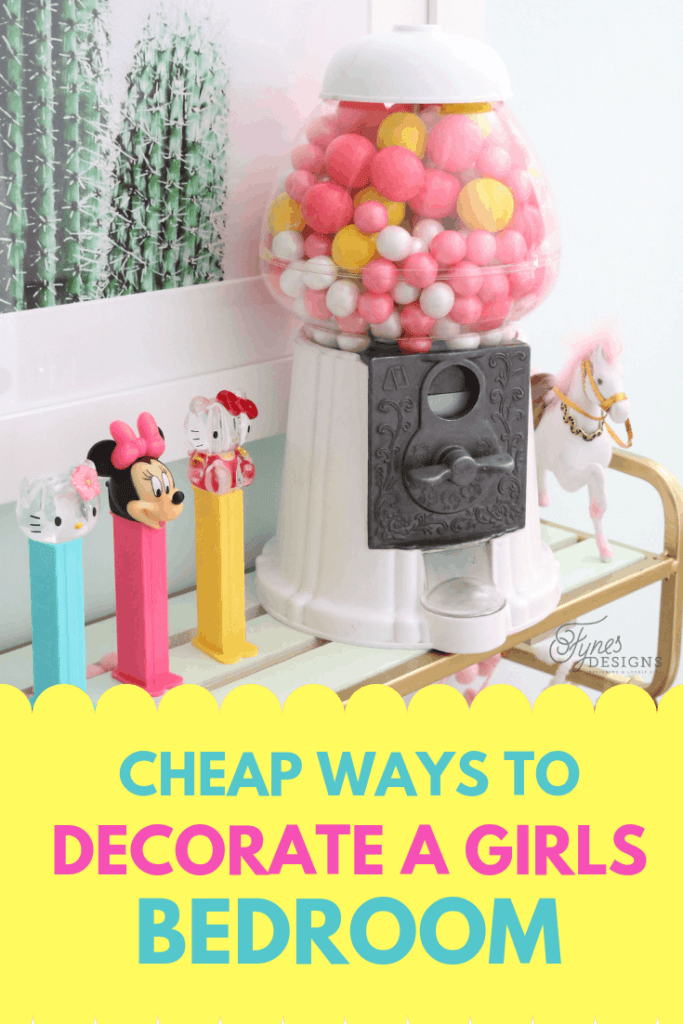 Top 10 Cheap Bedroom Decoration Ideas for Girls featured by top US DIY and interior design blog, Fynes Designs