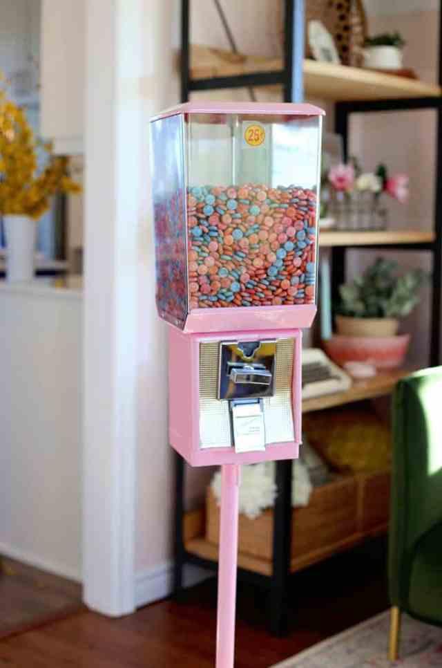 Pink painted gumball machine